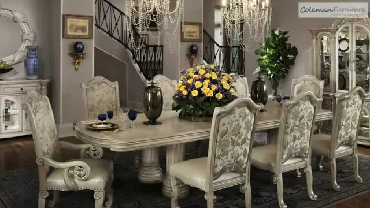 Ordinaire Monte Carlo II Silver Pearl Dining Room Collection From Aico Furniture