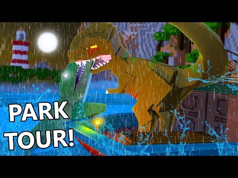 Minecraft | TOUR OF THE PARK! (Jurassic World Adventure)