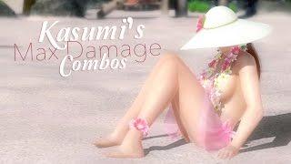 DOA5LR - Kasumi Max Damage Combos