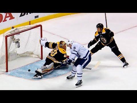 Hyman blazes past Bruins defence to score slick goal
