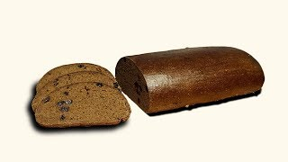 100% ржаной  цельнозерновой заварной хлеб с изюмом
