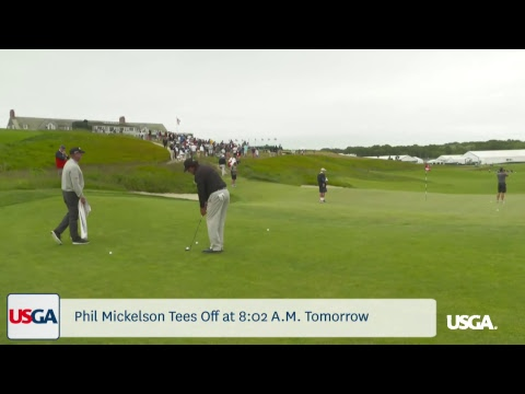 Mickelson Plays Final Practice Round at Shinnecock Hills  - Buy American