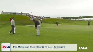Mickelson Plays Final Practice Round at Shinnecock Hills