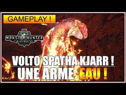 GAMEPLAY - JE TEST LA VOLTO SPATHA KJARR - MONSTER HUNTER WORLD - FR thumbnail