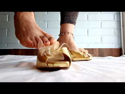 golden flower high heels horny slides by Mules Platas