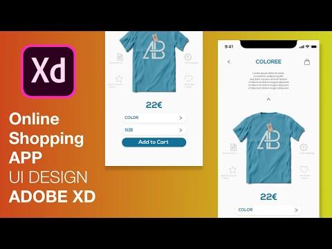 iOS Online Store App UI Design Tutorial   Adobe XD App Design thumbnail