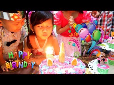 Selamat Ulang Tahun Hana ke-5. Surprise Cake Birthday Potong Kue Ulang Tahun di Rumah.Happy Birthday