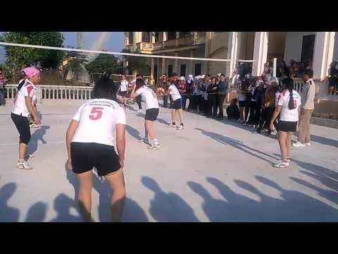 giao lưu bóng chuyền hơi nữ Khánh Thành vs Khánh Công (Yên Khánh - Ninh Bình)