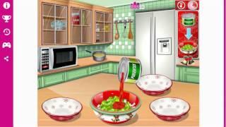 Игрушечное приготовление салата из зелёного горошка