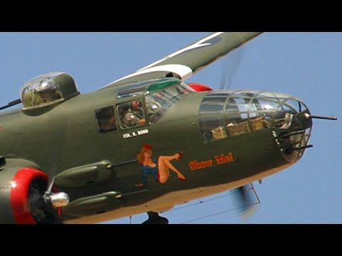 DOOLITTLE RAIDERS! Glorious FOOTAGE & SOUND of B-25 bombers participating in 75th anniversary!