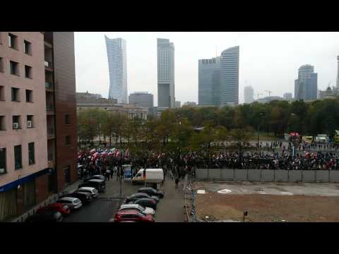 Anti-Immigration Protest in Warsaw, Poland 12/09/2015
