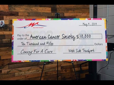 Convoy For A Cure Donation Ceremony - American Cancer Society Hope Lodge