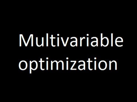 Multivariable optimization