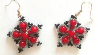 Серьги звездочки фриволите иглой анкарс. МК для начинающих. DIY Stars Earrings tatting needle Ankars