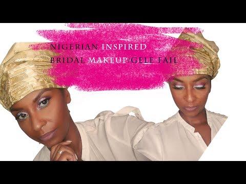 Nigerian Bridal Makeup/Gele Fail | Emma's Brush