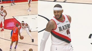 Chris Paul Schools Carmelo Anthony & Snitches For To Him Get Technical Foul! Thunder vs Blazers