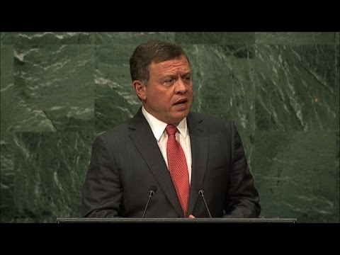 Jordanian King speaks at the UN Assembly