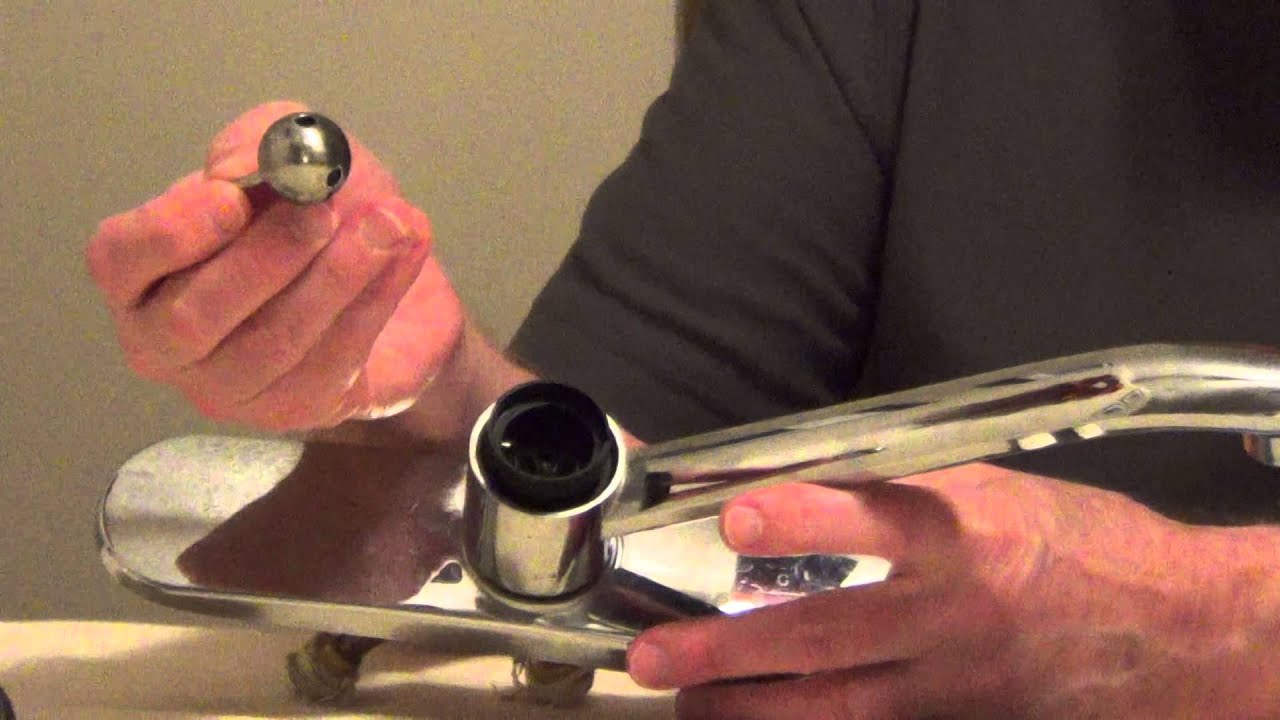 Fix Leaky Faucet - Ball Style Single Handle - YouTube