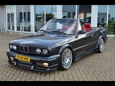 bmw 3 serie 318i cabrio e30 18 m tech sportleder hardtop youtube. Black Bedroom Furniture Sets. Home Design Ideas