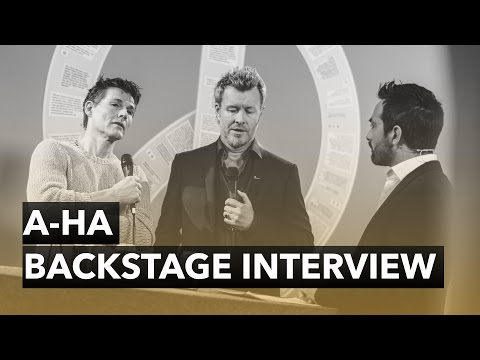 A-ha - Backstage Interview - The 2015 Nobel Peace Prize Concert