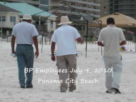 BP and Military on Panama City Beach July 4 2010