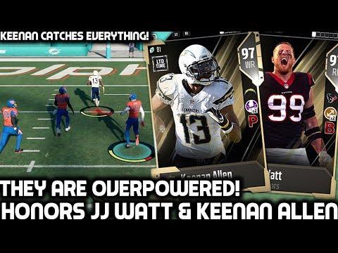 NFL HONORS JJ WATT & KEENAN ALLEN ARE OVERPOWERED! Madden 18 Ultimate Team