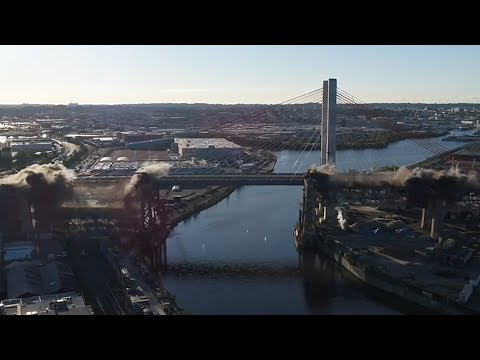 New York City demolishes 78-year-old bridge