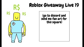 roblox giveaway live 19 replay