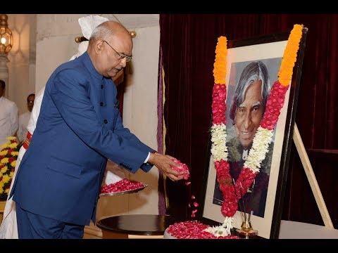 President Kovind paid floral tributes to Dr A.P.J. Abdul Kalam on his birth anniversary