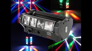 Color Changing DMX512 Sound Activated Auto Running  Beam Light for Disco KTV Club Party