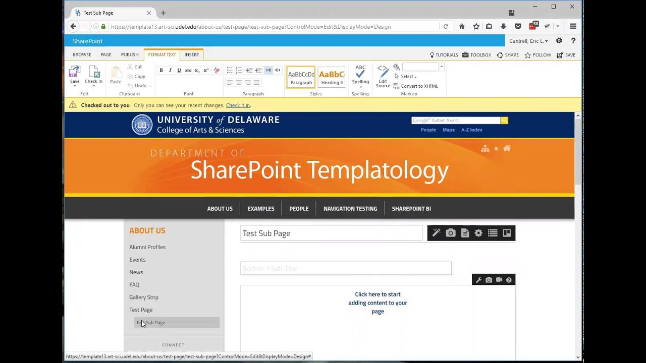 how to create a sharepoint page