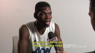 Paul Pogba trying to speak Portuguese!