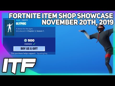 Fortnite Item Shop *NEW* GLYPHIC EMOTE! [November 20th, 2019] (Fortnite Battle Royale)