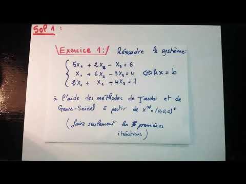 Exemple Méthode De Jacobi Et De Gauss-Seidel