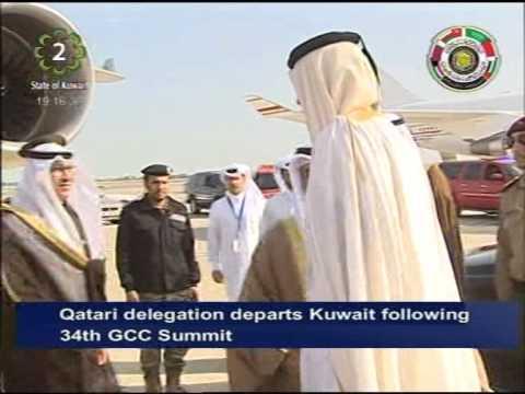 Qatari delegation departs Kuwait following closing ceremony of 34th GCC Summit