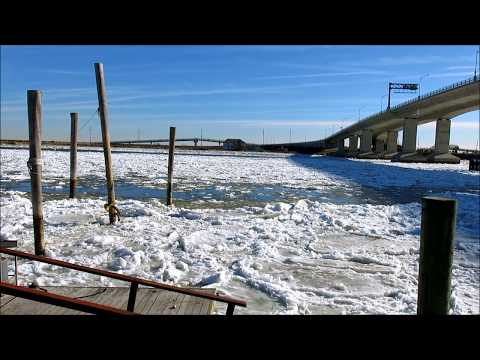 Ice Under the Atlantic Highlands Bridge, Sandy Hook, N.J.