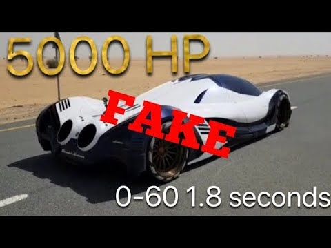 FAKE CRAZY FIRST TEST Devel Sixteen V16 5,000 HP (0-60 1.8 seconds) top speed *560 km or 348 mph*