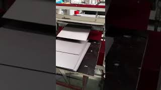 Whole line suitcase making machine in production
