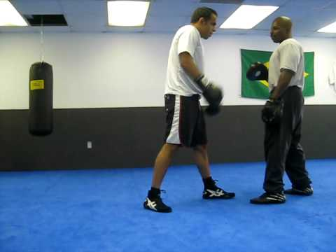 After One month of Beginner padwork with trainer Ted Johnson