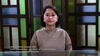 Hon. Josephine Ramirez-Sato (House of Representatives, Philippines) about BIOFIN