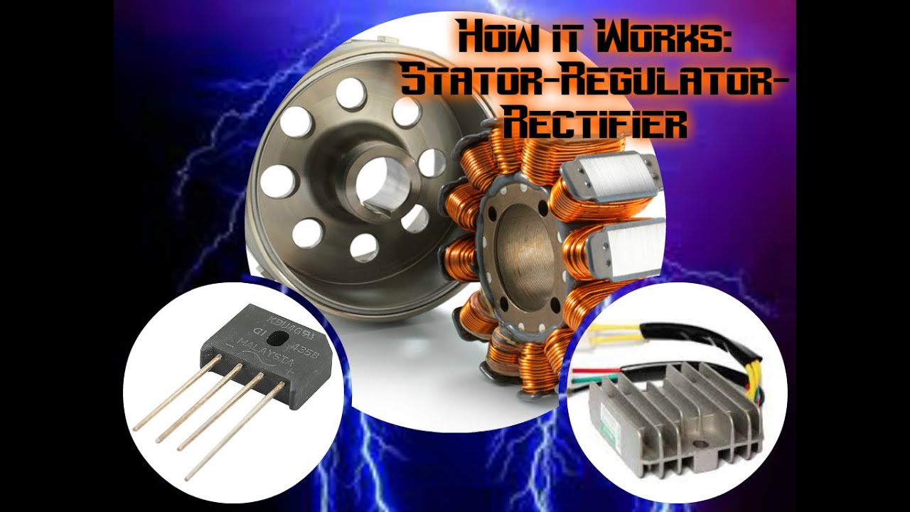 How A Motorcycle Works Ep 1 The Stator Regulator And Rectifier Schematic
