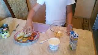 Самый вкусный фруктовый салат,для детей.