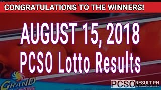 PCSO Lotto Results Today August 15, 2018 (6/55, 6/45, 4D, Swertres, STL & EZ2)