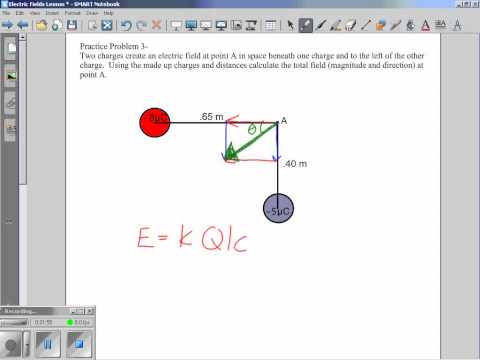 Electric Field for Charges on Corners