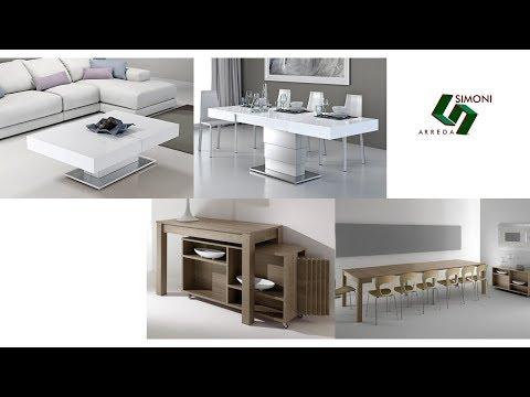 Tavolini trasformabili e tavoli consolle allungabili youtube for Simoni arreda milano