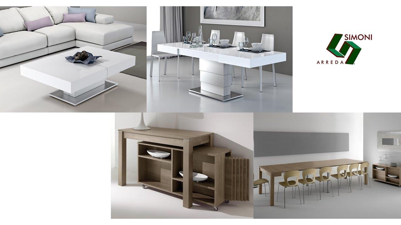 Tavolini trasformabili e tavoli consolle allungabili youtube for Tavolini trasformabili ikea
