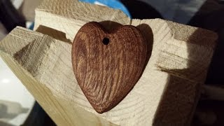 Making A Wooden Heart Pendant By Hand