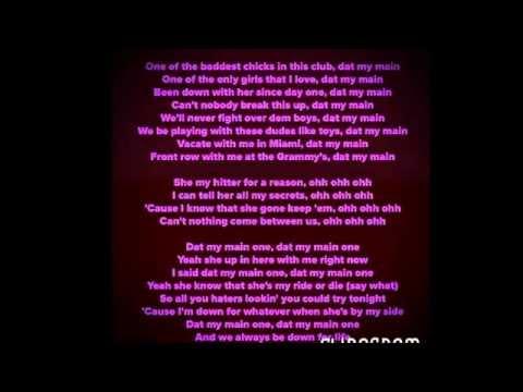 My main lyrics