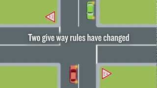 The left-turn versus right-turn give way rule has changed