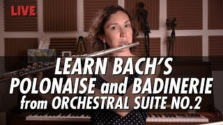 Just Practicing with Amelie   J.S. Bach Polonaise and Badinerie from Suite in B Minor No.2